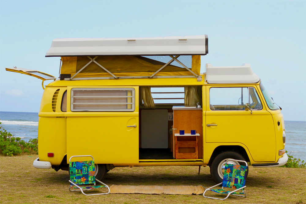 beach camper van rental hawaii